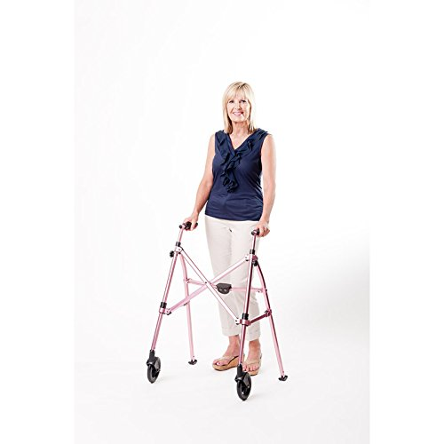 Able-Life-Space-Saver-Lightweight-Folding-Travel-Walker-with-6-wheels-Supprts-400-lbsBariatric-0-0