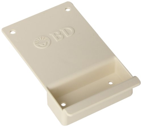 BD-305485-Locking-Wall-Bracket-for-8-10-Quart-and-6-Gallon-Multi-Use-Nestable-Sharps-Collectors-3-12-Width-x-6-Height-x-1-Depth-Pearl-Case-of-12-0