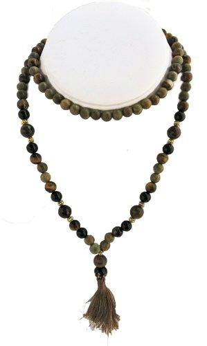Black-Tiger-Mala-108-Beads-Tigers-Eye-Faceted-Agate-Agar-Aloe-Wood-Black-Onyx-Dye-Enhanced-0