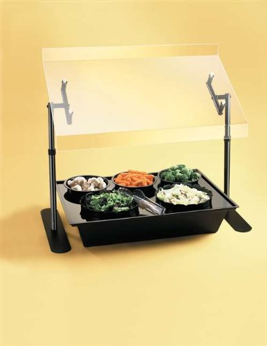 Cal-Mil-751-4-Portable-Metal-Frame-Sneezegaurd-48-Width-x-18-Depth-x-20-Height-Clear-0