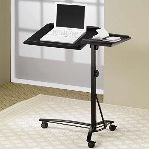 Coaster-Desks-Laptop-Computer-Stand-with-Adjustable-Swivel-Top-and-Casters-0