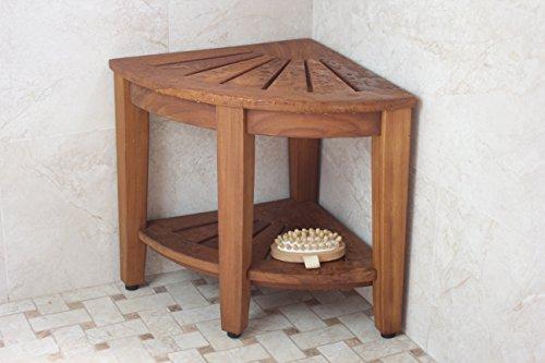 Floor-Sample-155-Kai-Corner-Teak-Shower-Bench-with-Shelf-0