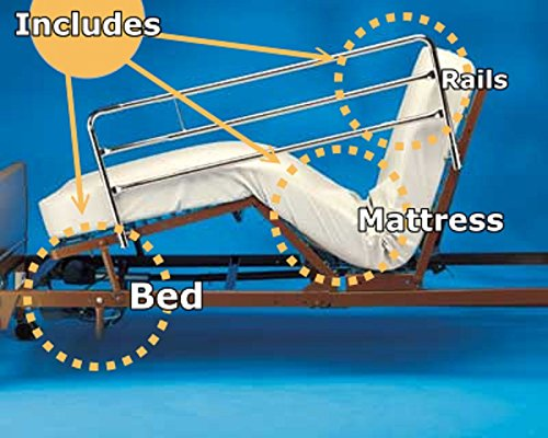 Full-Electric-Hospital-Bed-Package-Invacare-Full-Electric-Home-Hosckpital-Bed-Paage-wMattress-Rail-Set-0-0