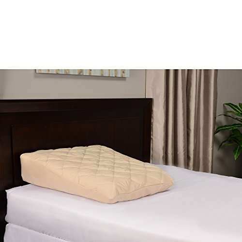 Inflatable-Bed-Wedge-Acid-Reflux-Wedge-Small-Size-wSoft-Peach-Skin-Custom-Fitted-Cover-32L30W8H-Weighs-22-Pounds-0-1