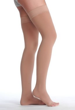 Juzo-Soft-Thigh-High-With-Silicone-Dot-Band-Short-Open-Toe-20-30mmHg-II-Beige-0