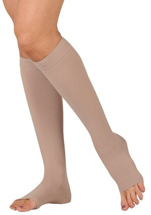 Juzo-Varin-Knee-High-Open-Toe-Short-20-30mmHg-IV-Beige-0