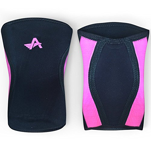 Knee-Sleeves-1-Pair-Best-Compression-Support-for-CrossFit-Weightlifting-Powerlifting-Injury-Prevention-5MM-Neoprene-Sleeve-for-Squats-For-Men-Women-by-Athlos-Fitness-0