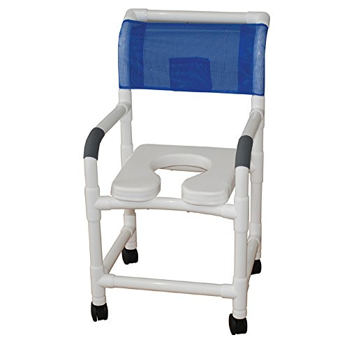 MJM-International-118-3TW-SSDE-Standard-Shower-Chair-with-Soft-Seat-Royal-BlueForest-GreenMauve-0