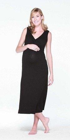Maternity-Nursing-Pregnancy-Nightdress-Black-Maternity-Wear-Maternity-Clothes-0-0
