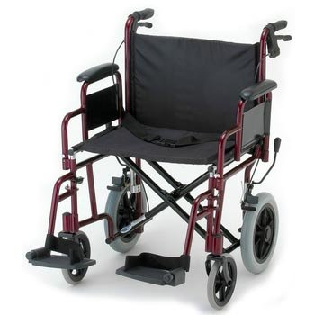 NOVA-332-Lightweight-Transport-Chair-with-Detachable-Arms-Hand-Brakes-and-12-Rear-Wheels-22-0