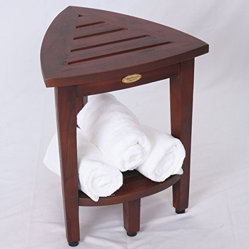 New-Oasis-FULLY-ASSEMBLED-Teak-Corner-Shower-Bench-With-Shelf-Shower-Sitting-Storage-Saving-Foot-Rest-0-1