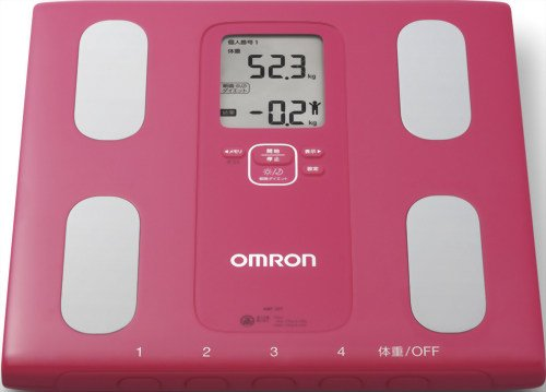 Omron-KARADA-Scan-Body-Composition-Scale-HBF-207-Pink-Japanese-Import-0