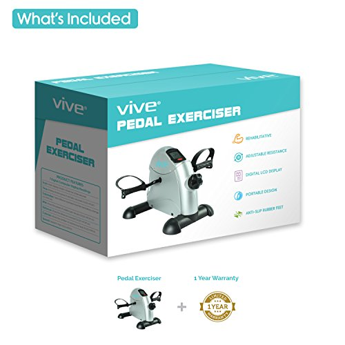Pedal-Exerciser-by-Vive-Best-Portable-Medical-Exercise-Peddler-Low-Impact-Small-Exercise-Bike-for-Under-Your-Office-Desk-Designed-for-Either-Hands-or-Feet-1-Year-Guarantee-0-1