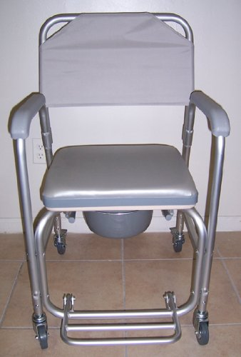 Shower-chair-with-wheels-padded-seat-commode-pail-and-cover-Tool-free-with-removable-back-rest-Dual-plastic-caster-locking-wheels-Overall-width-21-padded-seat-17-wide-height-fixed-38-depth-16-18-14-be-0-1