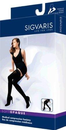 Sigvaris-Soft-Opaque-Thigh-High-30-40mmHg-Womens-Open-Toe-SL-Black-0