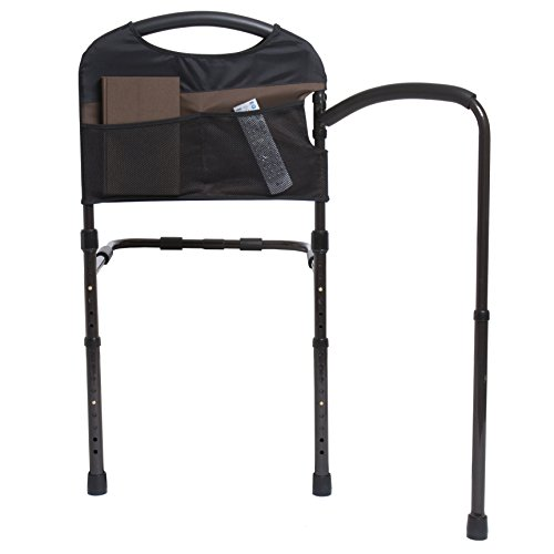 Stander-Mobility-Home-Bed-Rail-Cushioned-Support-Bed-Handle-Swing-Out-Mobility-Arm-Adjustable-Legs-Included-Organizer-Pouch-0