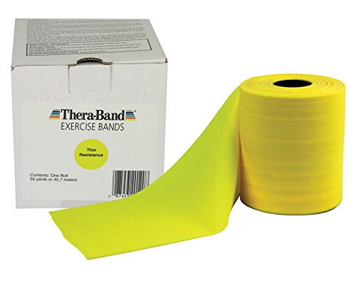 TheraBand-Professional-Non-Latex-Resistance-Bands-For-Rehabilitation-Portable-Fitness-and-Workout-Home-Exercise-25-Yard-Roll-Dispenser-Box-Gold-Max-Elite-0