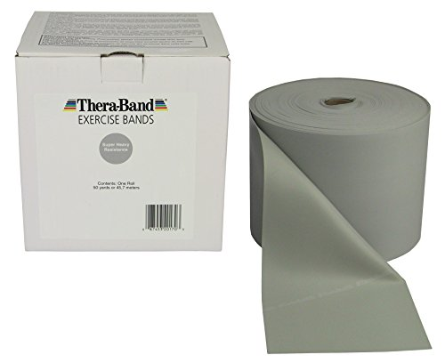 TheraBand-Professional-Non-Latex-Resistance-Bands-For-Rehabilitation-Portable-Fitness-and-Workout-Home-Exercise-25-Yard-Roll-Dispenser-Box-Silver-Super-Heavy-Advanced-Level-2-0
