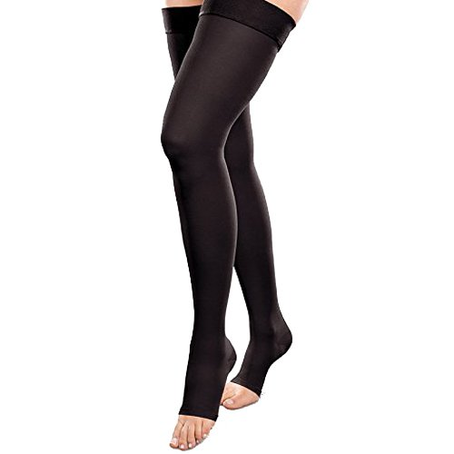 Therafirm-Ease-Opaque-Open-Toe-Short-Thigh-High-20-30-mmHg-Black-Small-0