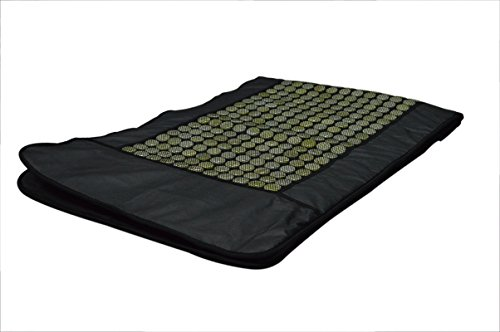 UTK-UTK-H10030L-PU-Leather-492-Pieces-Natural-Jade-Stones-Electric-Heating-Pad-24-W-x-70-L-inches-Black-0-0