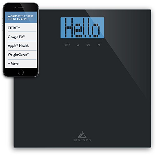 Weight-Gurus-Digital-Bathroom-Scale-with-Large-Backlit-LCD-and-Smartphone-Tracking-0