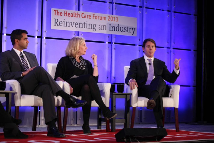 Panelists discuss patient care at The Economist Healthcare Forum.