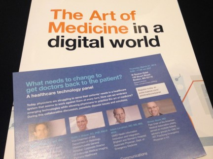 Nuance Panel Discussion: The Art of Medicine in a Digital World, featuring Dr. John Halamka, Dr. Keith J. Dreyer, Dr. Adam Landman and Dr. Steven Stack.