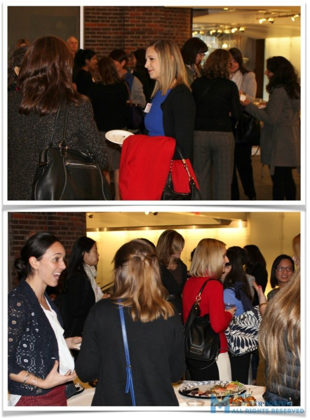 Leaders in healthcare chatted over wine and snacks at the April 2 Salon Series of XX in Health, hosted at OvaScience.  ©Elizabeth Hoffman