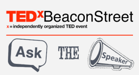 TEDxBeaconStreet Ask the Speaker Logo