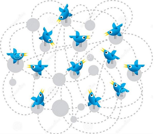 Twitter Birds Connected- Shared from Paul Sonnier