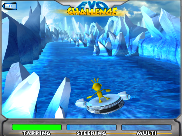Players drive their characters down the river, navigating challenges and collecting fish.