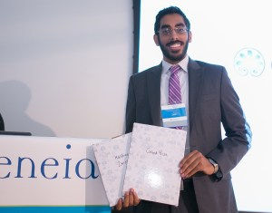 Hashim Zaidi, MD won the Joy of Medicine Challenge Final Pitch-Off on June 8 at MATTER in Chicago