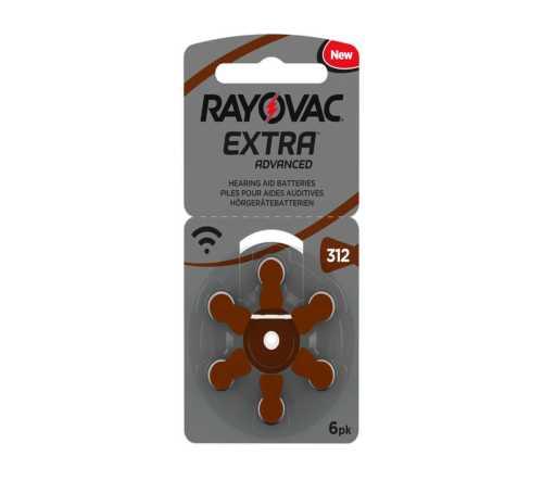 מארז 6 סוללות למכשיר שמיעה - RAYOVAC 312 4
