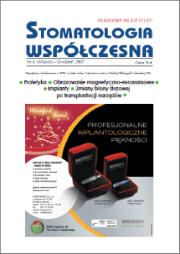 Stomatologia Współczesna nr 6/2007