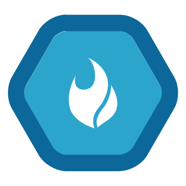 """Image du Badge """"Fire (1571)"""" fourni par Alan Hussey, from The Noun Project sous Creative Commons - Attribution (CC BY 3.0)"""
