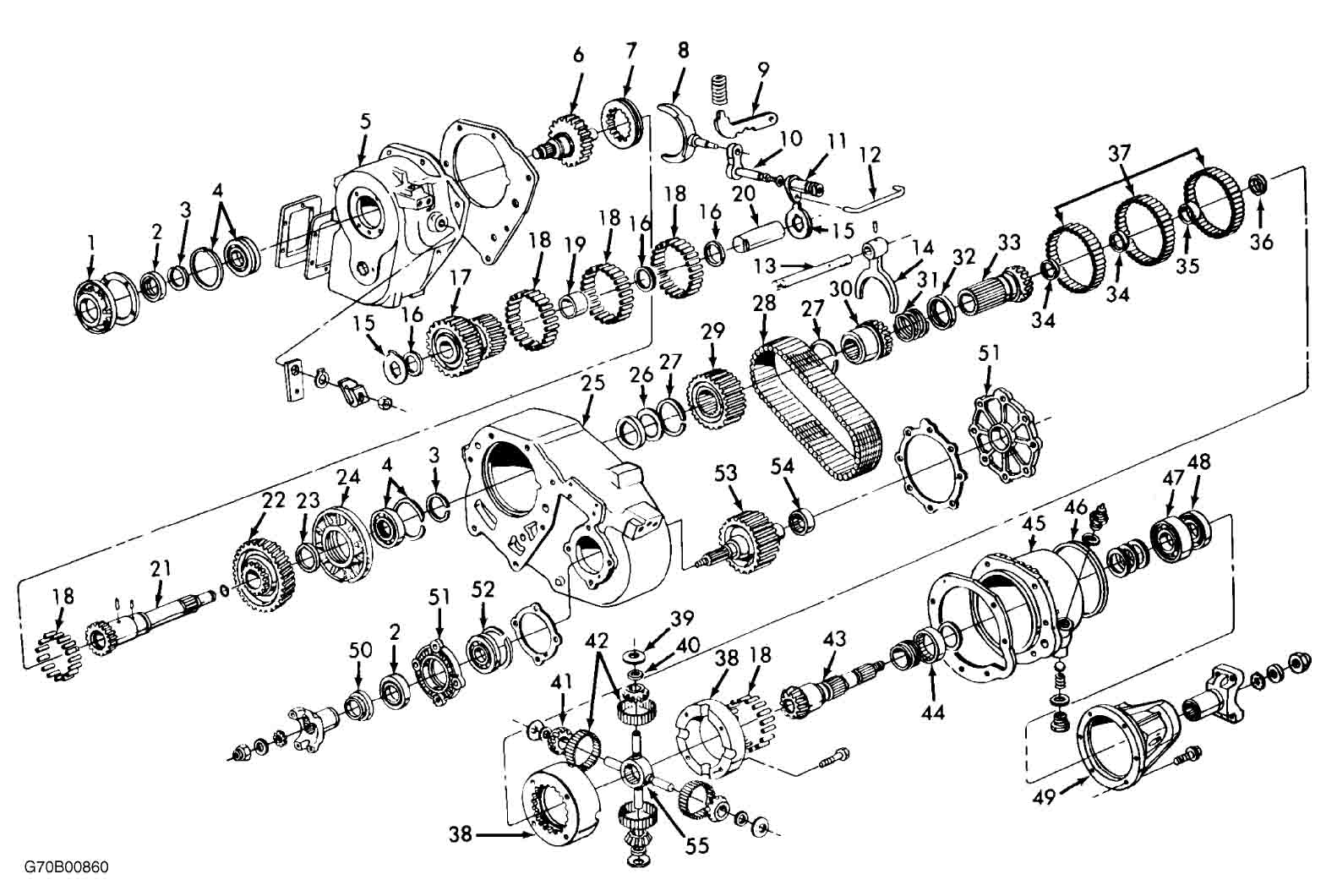 Chevy 205 Transfer Case Diagram
