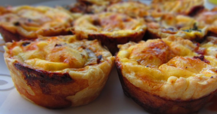 Mini kiši/sāļie groziņi (mini quiche)