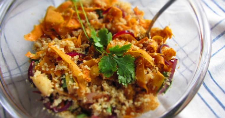 Kvinojas salāti ar dārzeņiem