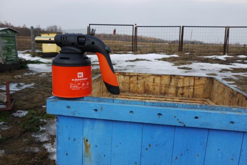 газовая горелка для обжига ульев