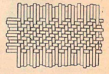 плоское плетение лентами