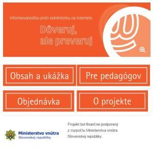 """Propagácia brožúry """"Dôveruj, ale preveruj"""" vydanej s podporou Ministerstva vnútra SR"""