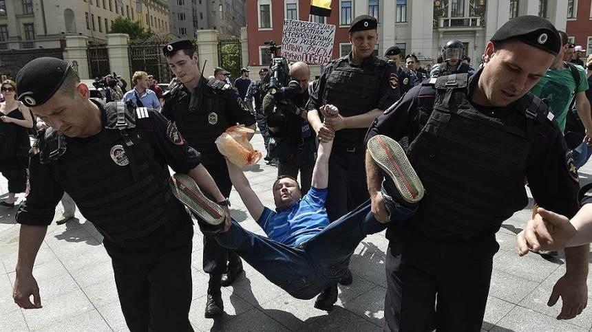 """Zatknutie počas """"gay pride"""" v Moskve"""