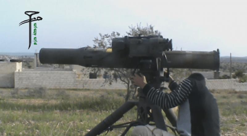 Protiraketový systém TOW v rukách sýrskych bojovníkov