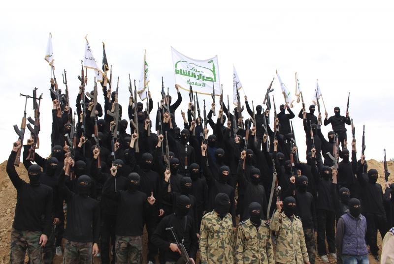 """Bojovníci """"Ahrar ash-Shamu"""""""