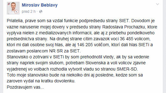 Beblavy_fb