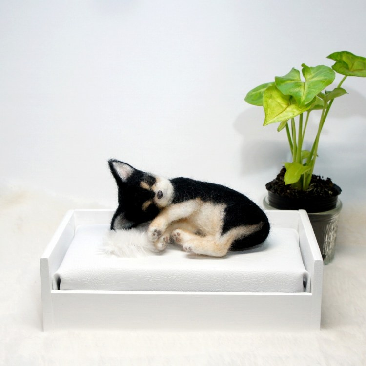 チワワ 仔犬 羊毛フェルト Chihuahua