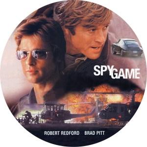 ロバートレッドフォード、ブラッドピットW主演「スパイゲーム」のDVDラベルです