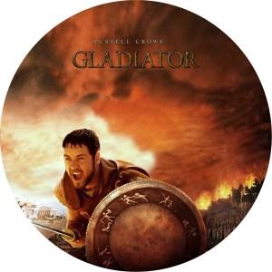 主演ラッセル・クロウ、アカデミー賞、ゴールデングローブ賞受賞作「グラディエーター」のDVDラベルです