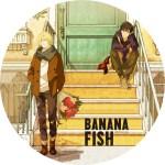 アニメ「バナナフィッシュ BANANA FISH」パターン1のDVDラベルです