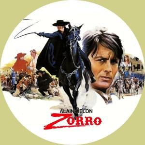 映画アランドロンの「ゾロ」のDVDラベルです